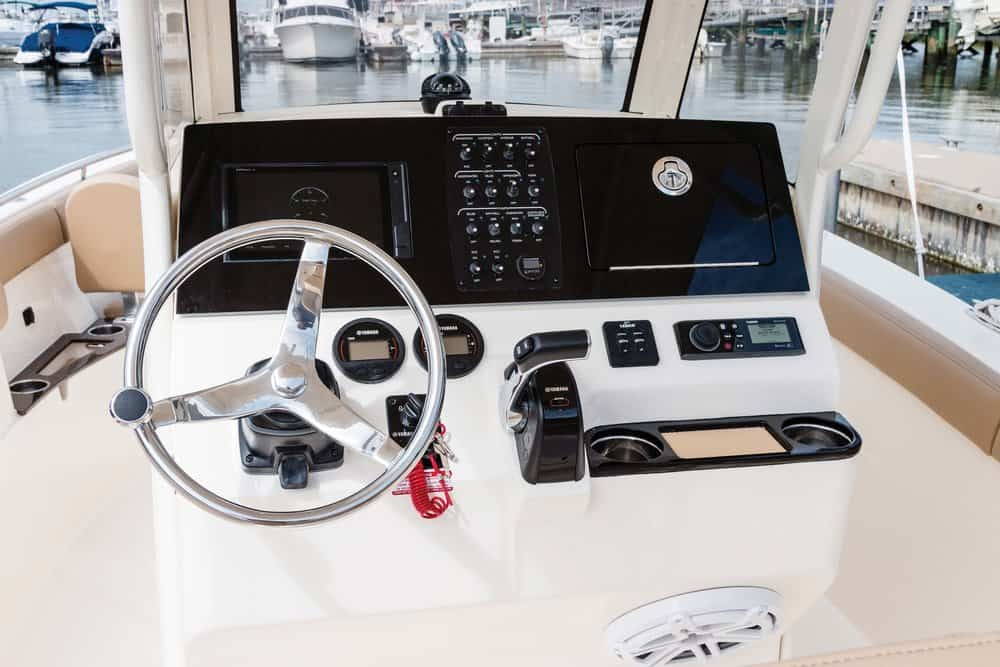 Spacious instrument/switch panel,even more beverage holders, and an adjustable tilt helm.