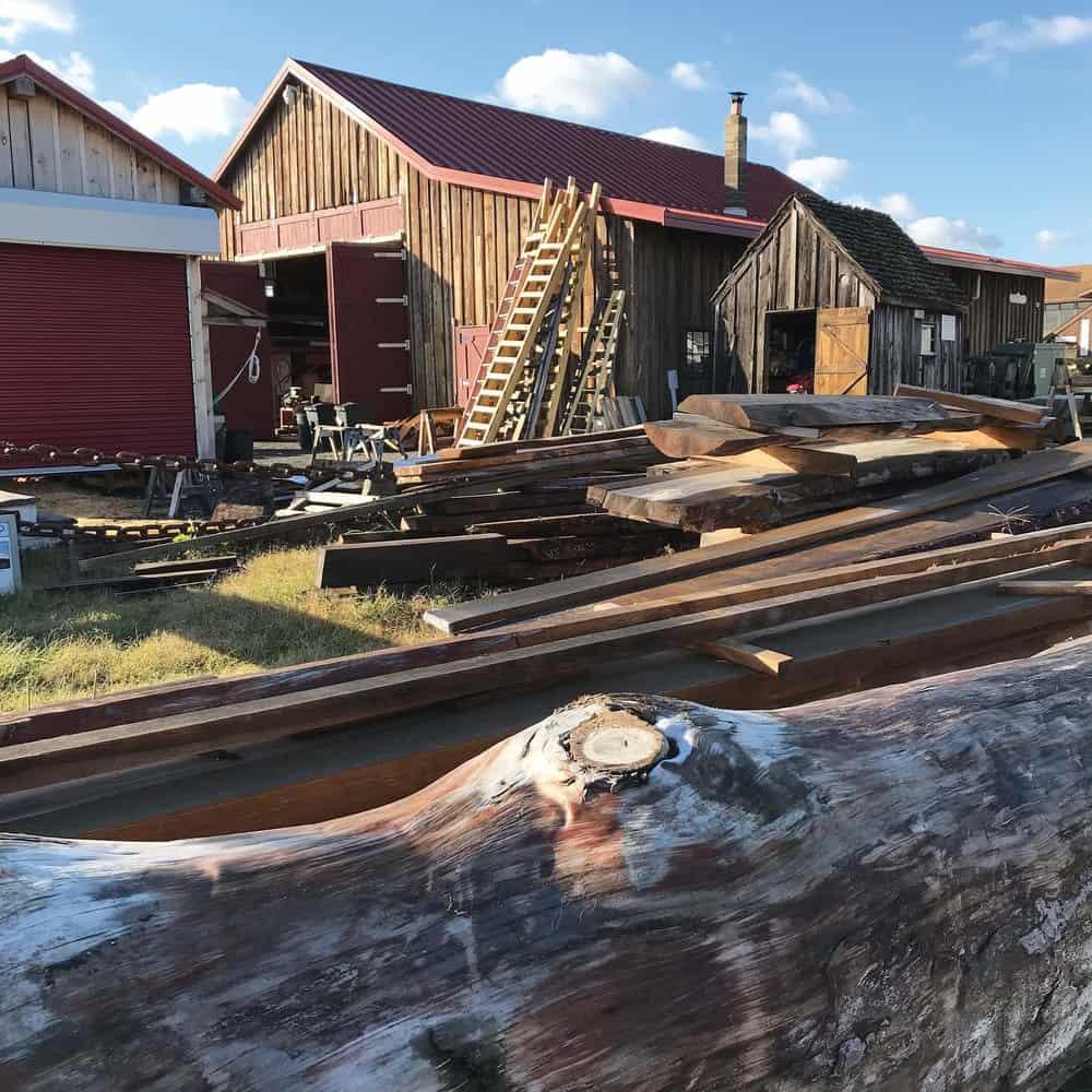 Scofield's lumber and railway workspace
