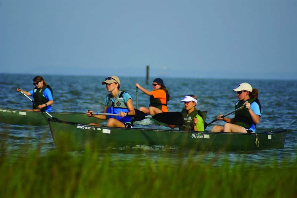 Photo by Chesapeake Bay Foundation. Chesapeake Bay Foundation students underway.
