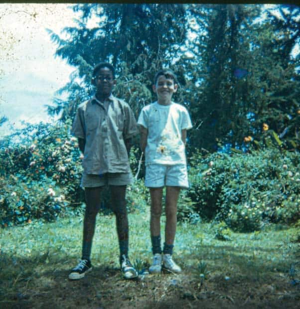Young Tutman in 1969 with best pal Martin Marriott at St. Michaels School in Tanzania.Courtesy of Fred Tutman.