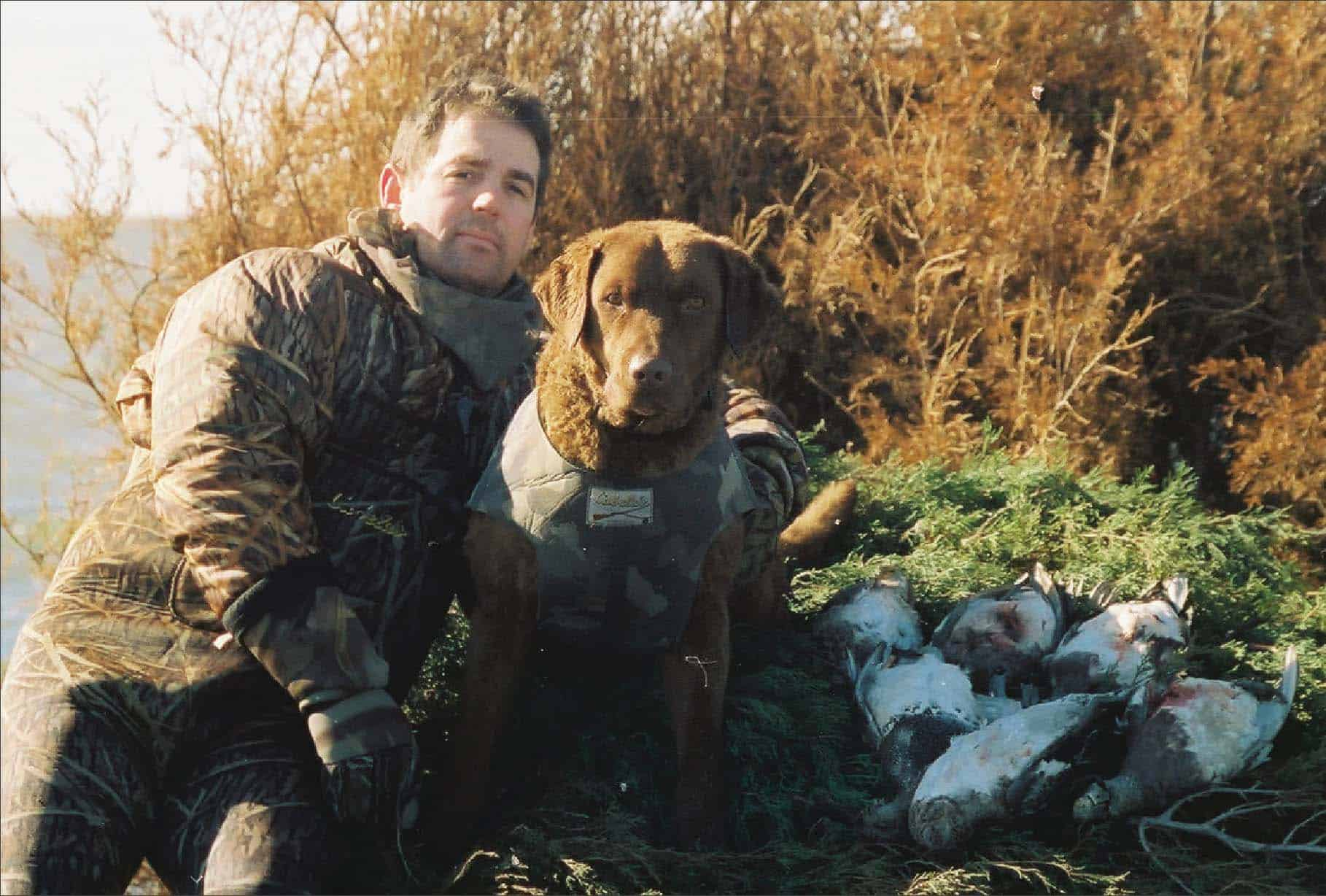 Chris Dollar and Huck. Photo by Kevin P. Colbeck.