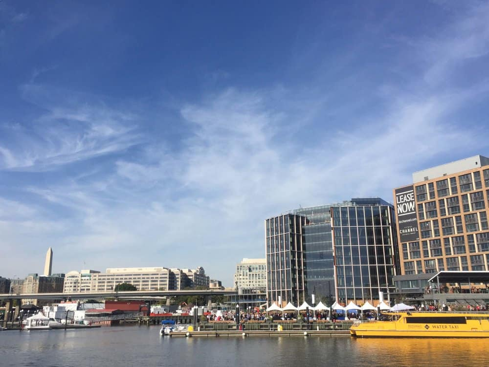 Hip eateries, a concert venue, luxury apartment buildings and a pier extending into prime waterfront are some features of District Wharf. photos by Jody Argo Schroat