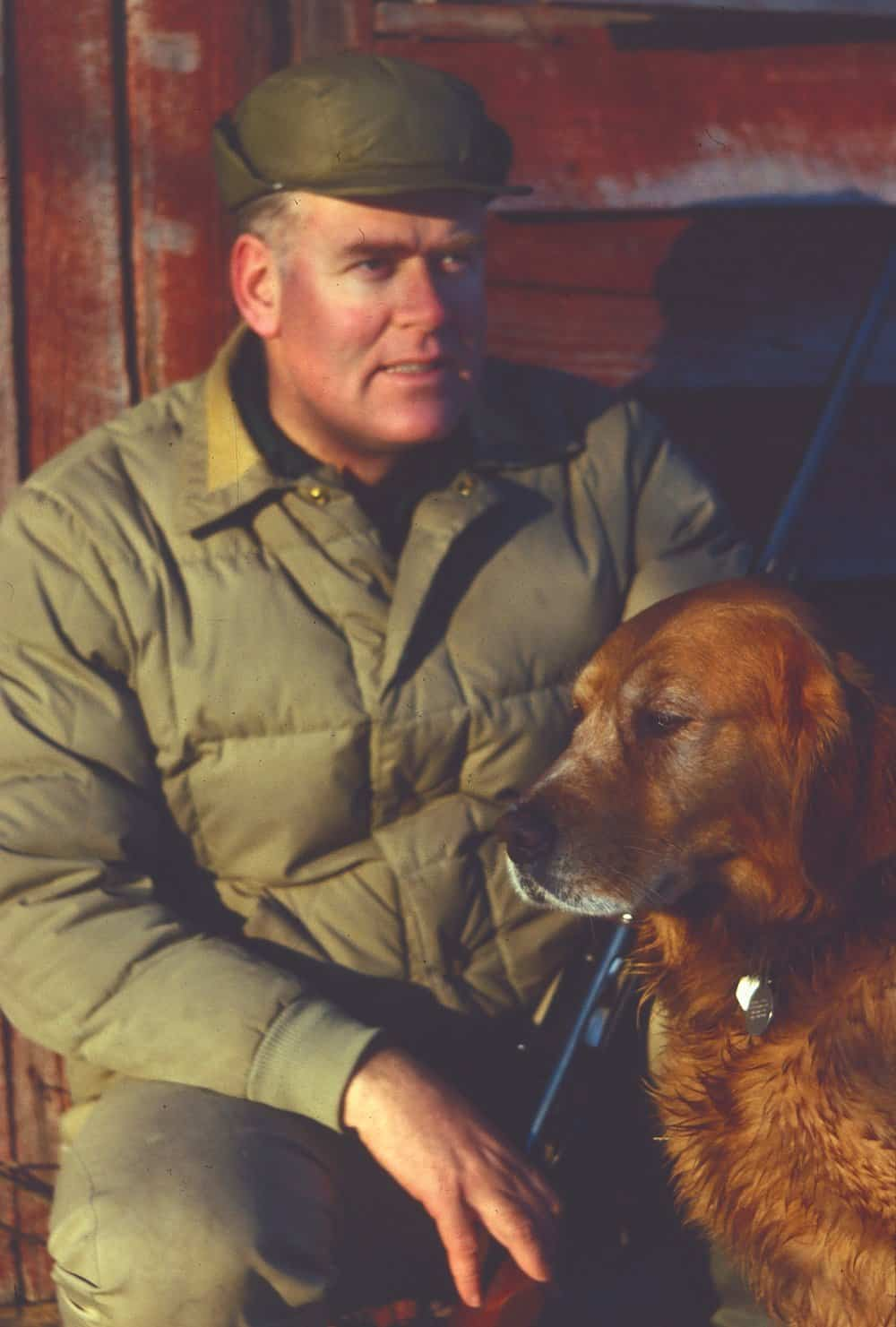 Reiger and Rocky at Remington Farms in Kent County, Md. circa 1978.