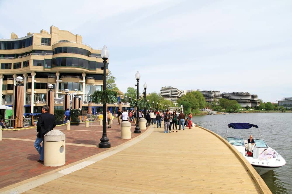 Georgetown's waterfront offers a lively riverside stroll, docking and other conveniences.   photos by Jody Argo Schroat