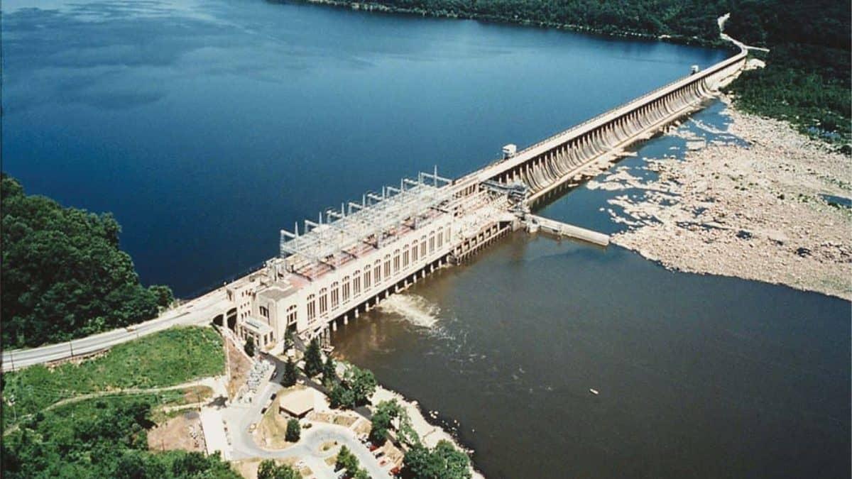 New dam,hydroelectric,Susquehanna,Safe Harbor Photo PA,1931