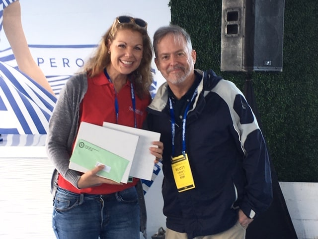 Cheryl and Scott Croft, Director of Public Relations for BoatUS, which sponsored the Boating Videos category.