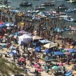 VIDEO: 10 Tons of Trash Left on Beach after Floating Va. Beach Party