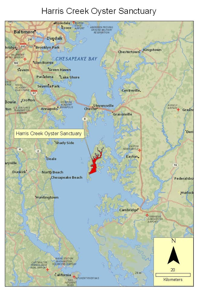 Map: Maryland Dept. of Natural Resources