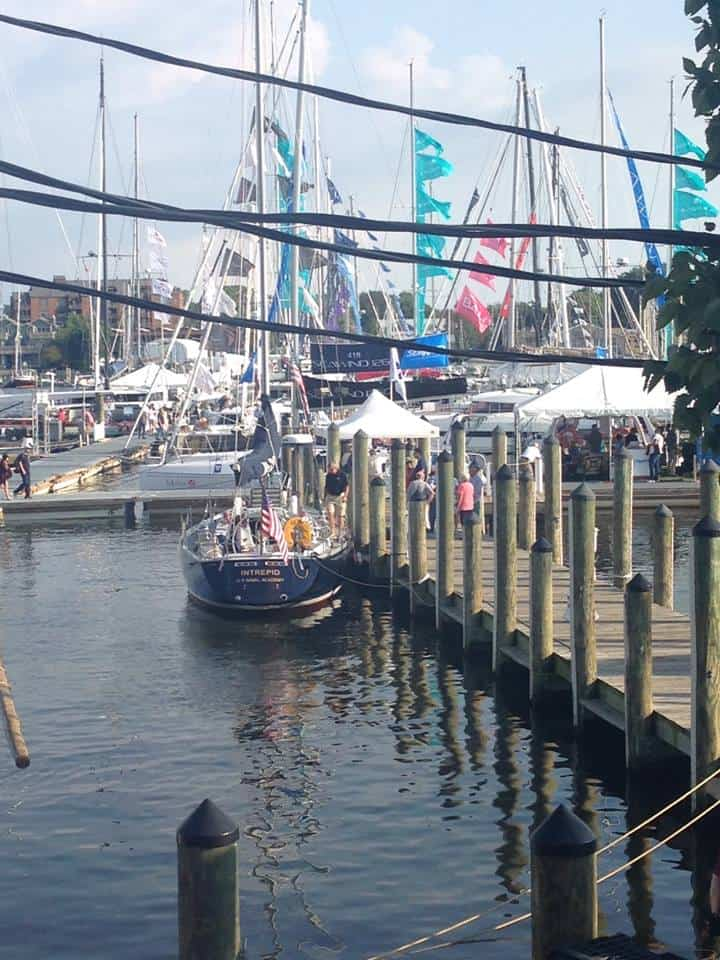 The National Sailing Hall of Fame's dock during last weekend's United State's Sailboat Show in Annapolis. Photo: NSHOF/Facebook