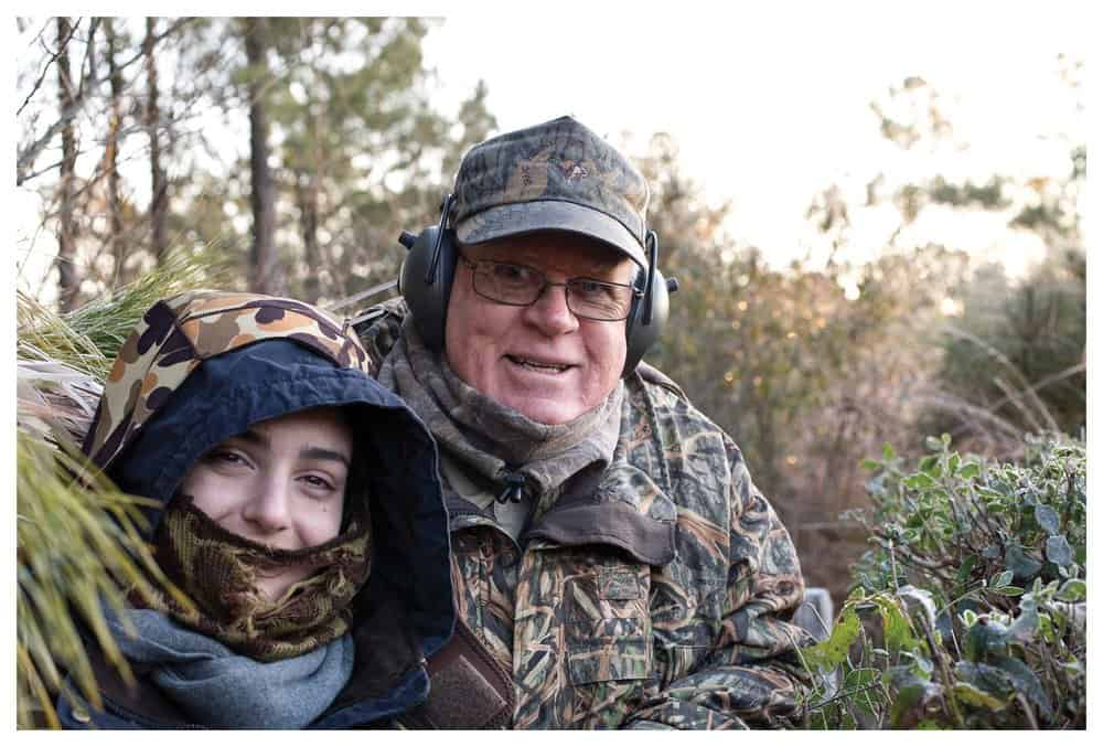 Reiger and his daughter-in-law Elizabeth in an Eastern Shore duck blind.