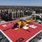 Coast Guard Aircrew 1st to Land on Norfolk's New Hospital Helipad