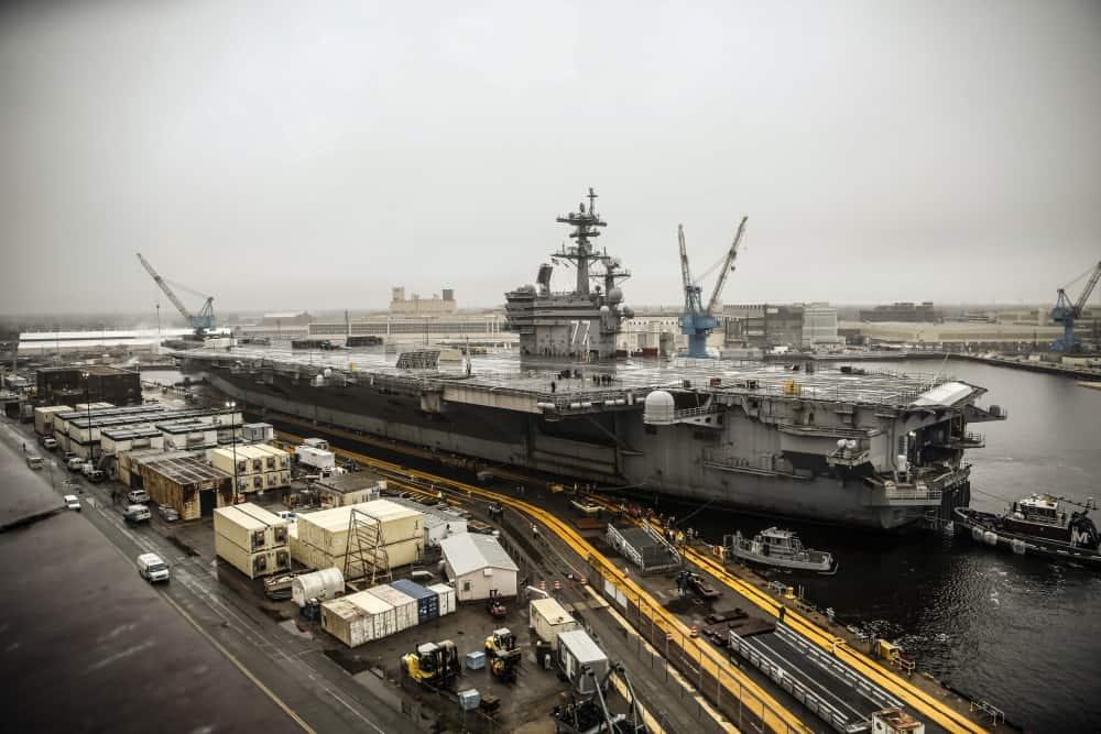 USS George H.W. Bush at Norfolk Naval Shipyard