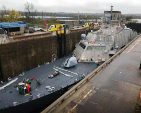 LCS 11 at Welland Canal Lock 3 in Ontario. Photo: Nathan Attard