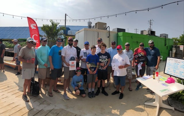 A record 159 anglers took part in the 16th annual Kent Narrows Light Tackle & Fly Fishing Tournament held on June 1, with the winners pictured here. Photo courtesy of CCA MD.