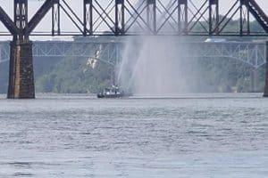 Crews Fight Fire on Susquehanna River Bridge