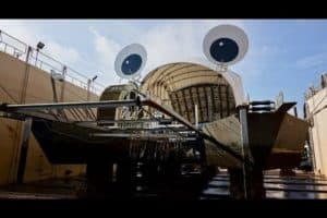 VIDEO: Baltimore's Mr. Trash Wheel Hauled out for Repairs