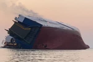 VIDEO: Baltimore-Bound Cargo Ship Capsizes off Georgia