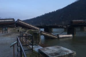 Freight Train Cars Derail into Potomac River