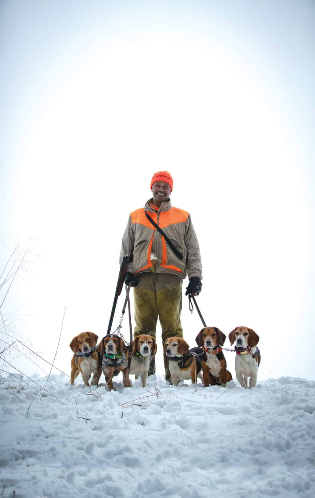 Charles Rodney and his hounds