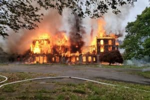 Historic Naval Training Center Burns Down on Susquehanna River