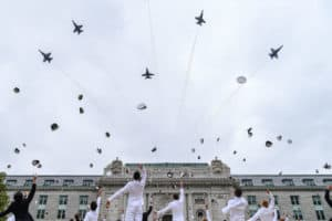 USNA Graduation Breaks with Tradition