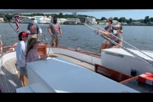 VIDEO: Wedding Crashers-Themed Sails on Schooner Woodwind