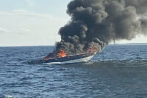 Six Rescued from Powerboat Fire off Ocean City