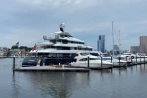 VIDEO: More Megayachts Spending Time on the Bay