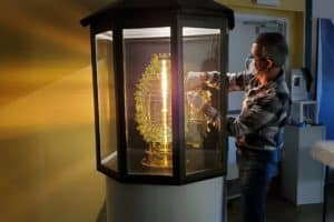 Piney Point Lighthouse  K Replica Lens Now on Display