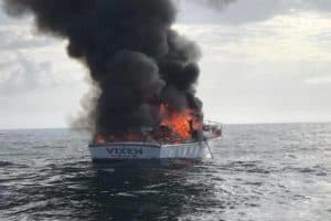 VIDEO: Anglers Save Men from Fully-Engulfed Boat Fire off Va. Coast