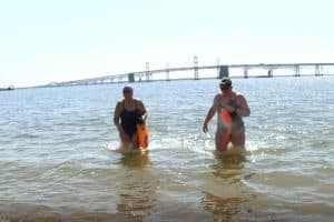 VIDEO: Open Water Swimmers Train in Bay Through Coldest Months