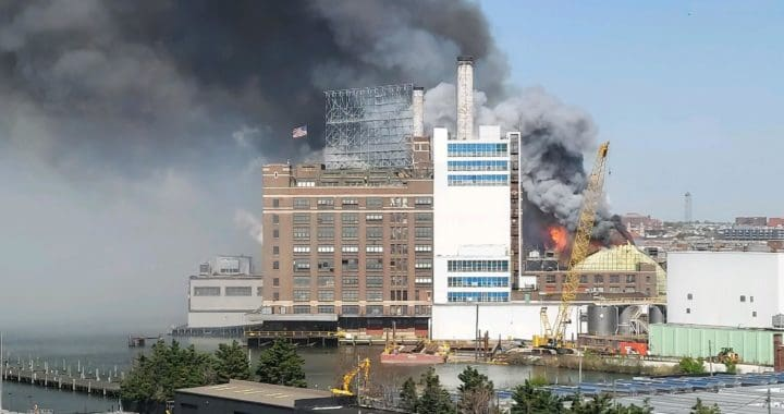 3-Alarm Fire Destroys Domino Sugar Silo