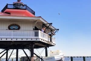Choptank River Lighthouse Tender Back after Winter Fix-up