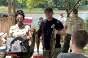 VIDEO: Catch 'Em, Eat 'Em at Dundee Snakehead Derby