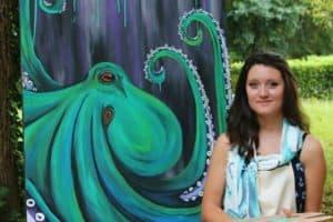 Pocomoke Wildlife Artist Paints Live at Delmarva Discovery Museum
