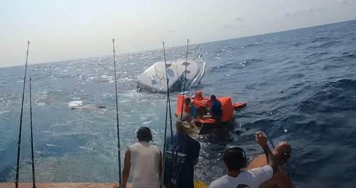 VIDEO: White Marlin Open Anglers Rescued Offshore by Competitors as Boat Sinks