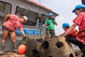 SLIDESHOW: Oyster Reef Balls Sunk off Chesapeake Beach