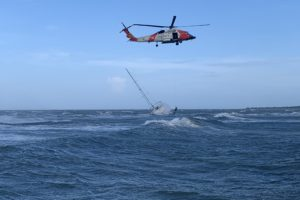 VIDEO: 3 Sailors Airlifted out of Chincoteague Inlet During Ida Aftermath